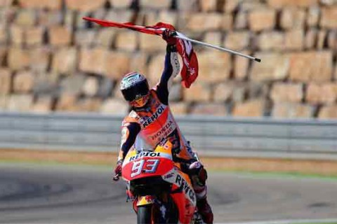 Motorcycling: Marquez extends lead with Aragon GP win