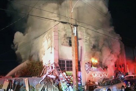 Up to 40 feared dead in California warehouse fire