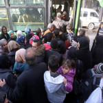 First buses take Aleppo residents back to abandoned homes
